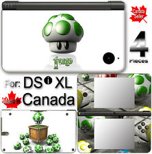 Mario Life Up mushroom SKIN COVER STICKER for DSi XL
