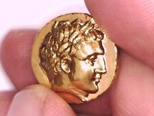2ROOKS GREEK GREECE MACEDONIA GOLD PLATED PHILIP II ALEXANDER THE GREAT COIN