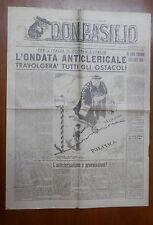 DON BASILIO 19 Gennaio 1947  legittimita anticlericale Cappa Giannini Nogara di