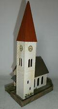 Weisse Kirche Dorfkirche  H0  B - 238   Fertig gebaut  Pos 17