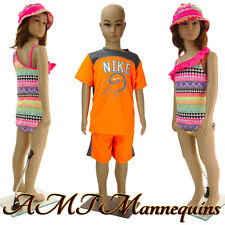 Girl/ Boy Mannequins+stand,One plastic doll, dressform- 1 child mannequin-CB01