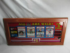 "IGT SLOT MACHINE GLASS All 7's Are Wild 10.5"" X 21.5"" Nevada Collectible Casino"