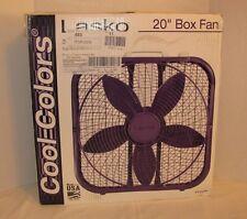 """Lasko Cool Colors 20"""" Box Window Fan - Purple"""