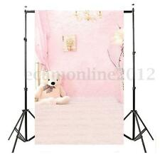 Toile de Fond Backdrop Tissu 150*90cm Photographie Studio Photo Rose Lit Ours