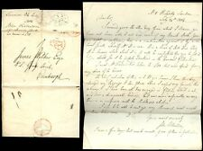 LONDON to SCOTLAND 1804 LETTER ROBERTSON PICCADILLY ELECTION HELL FIRE CLUB