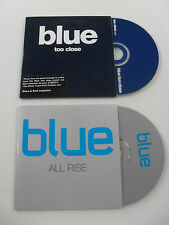 BLUE TOO CLOSE & ALL RISE  1 TRACK & 2 TRACK PROMO CD CARDSLEEVE VIRGIN 2001