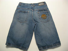 Boys Denim Shorts 18 Timberland Faded Blue Casual Long Embroidered Logo W30 Kids