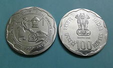 100 rs 1980 Rural Women Advancement UNC Coin