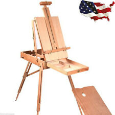 French Easel Wooden Sketch Box Portable Folding Art Artist Painters Tripod US M
