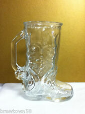 Plain smaller glass beer cowboy boot #1 Mexico mug 1 glass glasses ME9