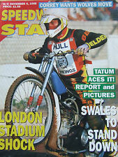 SPEEDWAY STAR MAGAZINE NOV 1995 TAUM ACES IT SWALES TO STAND DOWN LONDON STADIUM
