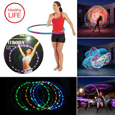 24 Flash Lights-90CM Colorful light flash LED Hula hula hoop fitness increased