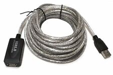 25 Ft USB 2.0 Active Repeater Male to Female Extension Cable Adapter Cord New