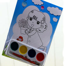 2xDIY Watercolor Painting Set 4 Colors Children Drawing Toy Kids Educational Toy