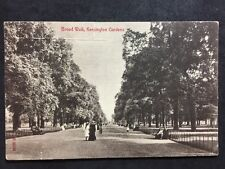 RP Vintage Postcard - London #KB1 - Broad Walk, Kensington Gardens - 1907