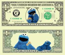 Cookie Monster Sesame St Million Dollar Novelty Collector Bill Note
