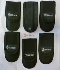"(6) GERBER Multi Tool Knife Sheath 6 1/4"" x 3 1/8""  Nylon with MOLLE Strap New"