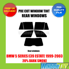 BMW 5 SERIES E39 ESTATE 1999-2003 20% DARK REAR PRE CUT WINDOW TINT