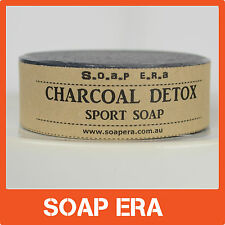 Activated Charcoal Detox Sport Soap all natural handmade soap with Macadamia Oil