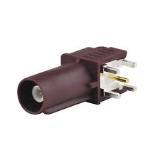 """Fakra """"D"""" male Plug PCB mount right angle connector Purple for GSM Car connector"""