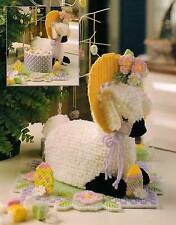 LAMB CENTERPIECE EASTER PLASTIC CANVAS PATTERN INSTRUCTIONS ONLY FROM A BOOK