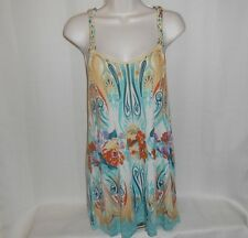 FREE PEOPLE Tank Top Shirt Women Size S Sleeveless Floral Multi-Color Racerback