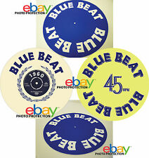 "Limited Edition BLUE BEAT Records 12"" Turntable / Platter MAT ska reggae dub"