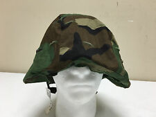 ARMY ISSUED WOODLAND CAMOUFLAGE BDU PASGT KEVLAR #ELMET COVER MEDIUM/LARGE NWT
