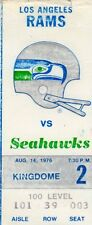 1976 INAUGURAL SEASON LA RAMS @ SEATTLE SEAHAWKS TICKET STUB 2ND GAME EVER