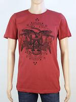 Duck & Cover mens M L XL XXL red crew neck t shirt