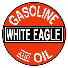 White Eagle Gas And Oil Sign 14 Round