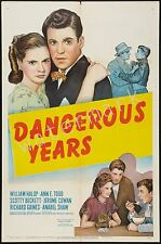 MARILYN MONROE - 1947 - DANGEROUS YEARS - 12X18 INCH MOVIE POSTER COLLECTABLE