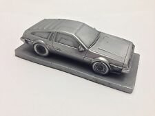 DeLorean Fluted Bonnet 1.43 Scale Pewter Effect Model Car Handmade In Sheffield