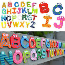 26pcs Wooden Alphabet Fridge Magnet Educational Study Toy For Children Kids Baby