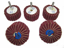5PC FLAP WHEEL ( EMERY/ SCOTCH BRITE ) 60MM X 40MM 6MM SHANK BUFFING POLISHING