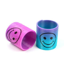 Mixed Color Slinky Rainbow Smiley Face Springs Boys Girls Party Bag Filler Toys