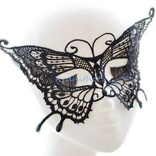 Black Sexy Lace Venetian Mask Buterfly Halloween Ball Masquerade Prom Costume