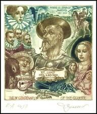 David Bekker 2006 Exlibris C4 Don Quichote Quijote Quixote Hudo Erotic Horse 863