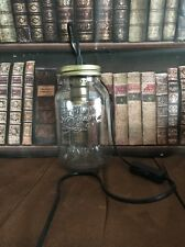 RETRO MASON JAR LAMP WITH VINTAGE BULB