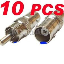 10 FEMALE BNC RCA CCTV VIDEO ADAPTER CAMERA CONNECTOR