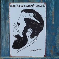 Collectibles Sigmund Freud Poster Vintage Tin Metal Signs Home Wall Decor