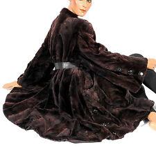 228cm Ourlet swinger tondue samtnerz pelisse vison vison manteau de fourrure sheared Mink