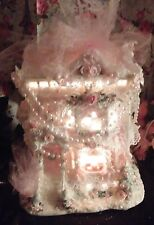Shabby Pink Roses Victorian Christmas Village Pink Christmas Village Pink Chic