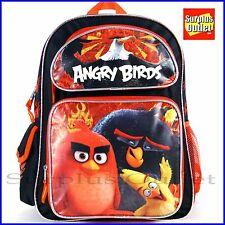 "Angry Birds 16"" Large Backpack School Book Bag"