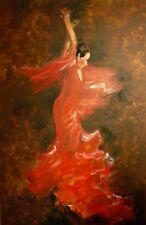 Brigitte HOLZER (1946) Tänzerin im roten Kleid 150 x 100 cm