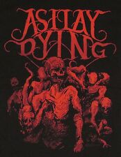 AS I LAY DYING T-shirt Zombie Skull Skeleton Tee Metalcore Band Adult XL X-LARGE
