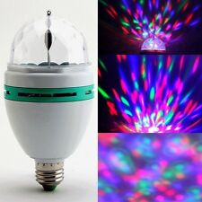 Clearance E27 RGB LED Crystal Magic Stage Light Rotating Party DJ Bar Bulb 220V