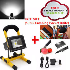 Rechargeable Cordless 10W LED Portable Outdoor Camping Work Light Flood Spot NEW