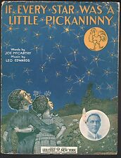If Every Star Was a Little Pickaninny 1912 Large Format Sheet Music