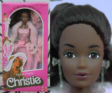 BARBIE CHRISTIE PINK PRETTY SUPERSTAR AA PJ WHITNEY STEFFIE 1981 VINTAGE RARA